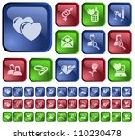 love and dating button set | Shutterstock .eps vector #110230478