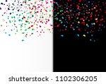 confetti  paper scatter falling ... | Shutterstock .eps vector #1102306205