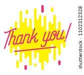 thank you banner. trendy flat... | Shutterstock .eps vector #1102312328