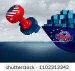 united states tariffs on europe ... | Shutterstock . vector #1102313342