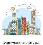 buildings ecology green city... | Shutterstock .eps vector #1102319168