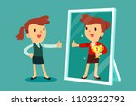 businesswomen standing in front ... | Shutterstock .eps vector #1102322792