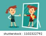 businesswomen standing in front ... | Shutterstock .eps vector #1102322792