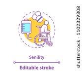 senility concept icon.... | Shutterstock .eps vector #1102329308