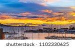 port of balaruc les bains on... | Shutterstock . vector #1102330625