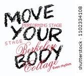 stylish trendy slogan tee t... | Shutterstock .eps vector #1102334108