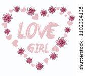 stylish trendy slogan tee t... | Shutterstock .eps vector #1102334135