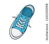 vector illustration. one blue... | Shutterstock .eps vector #1102335098