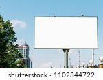 billboard  billboard  canvas... | Shutterstock . vector #1102344722