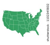 united states of america map.... | Shutterstock .eps vector #1102345832