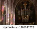 close up interior view of organ ... | Shutterstock . vector #1102347575
