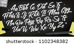 decorative alphabet vector font.... | Shutterstock .eps vector #1102348382