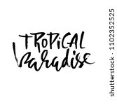 tropical paradise. hand drawn... | Shutterstock .eps vector #1102352525