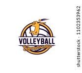 volleyball badge design logo... | Shutterstock .eps vector #1102353962