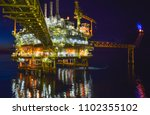 oil and gas offshore platform. | Shutterstock . vector #1102355102