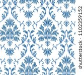 ikat ogee and damascus ornament ... | Shutterstock .eps vector #1102359152