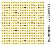 set of smile icons. emoji.... | Shutterstock .eps vector #1102359866