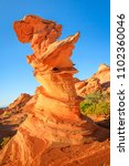 sandstone formation in the... | Shutterstock . vector #1102360046