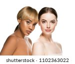 mixed races women beauty... | Shutterstock . vector #1102363022