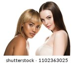mixed races women beauty... | Shutterstock . vector #1102363025