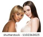 mixed races women beauty... | Shutterstock . vector #1102363025