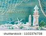 marine life decoration on a... | Shutterstock . vector #1102376738