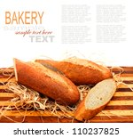 sliced bread loaf on chopping... | Shutterstock . vector #110237825