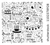 doodle hand drawn drinks... | Shutterstock .eps vector #1102378928