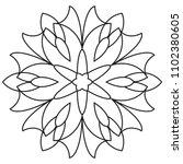 easy basic mandala for coloring ... | Shutterstock . vector #1102380605