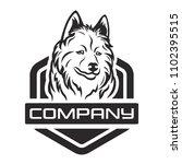 modern wolf in the hexagon logo | Shutterstock .eps vector #1102395515