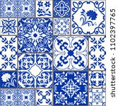seamless patchwork tile with... | Shutterstock .eps vector #1102397765