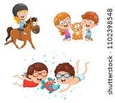 vector illustration of kids and ... | Shutterstock .eps vector #1102398548