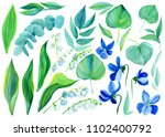 set of lilies of the valley  ... | Shutterstock . vector #1102400792
