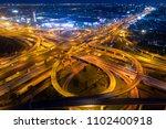 bangkok expressway top view ... | Shutterstock . vector #1102400918