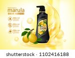 marula oil hair care protection ... | Shutterstock .eps vector #1102416188