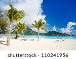 stunning beach and beautiful...   Shutterstock . vector #110241956
