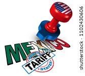mexico united states tariff on...   Shutterstock . vector #1102430606