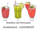set of three refreshing summer... | Shutterstock .eps vector #1102448195