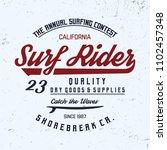 surf rider typography.... | Shutterstock .eps vector #1102457348
