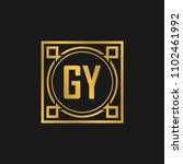 Gy Initial Logo. Luxury...