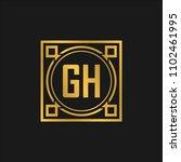 gh initial logo. luxury... | Shutterstock .eps vector #1102461995