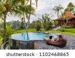 woman summer freelance nomand...   Shutterstock . vector #1102468865