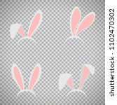 easter bunny ears mask... | Shutterstock . vector #1102470302