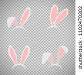 easter bunny ears mask...   Shutterstock . vector #1102470302