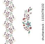 vector floral border ornament... | Shutterstock .eps vector #1102478132
