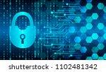 techno computer  background... | Shutterstock .eps vector #1102481342