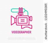 video camera thin line icon.... | Shutterstock .eps vector #1102490285