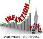 the graph of inflation growth.... | Shutterstock . vector #1102492052