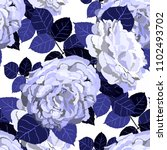 seamless pattern with roses.... | Shutterstock .eps vector #1102493702