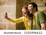 image of tourists | Shutterstock . vector #1102496612